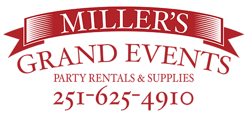 Millers Grand Events | Party Rentals Baldwin County and Mobile Alabama