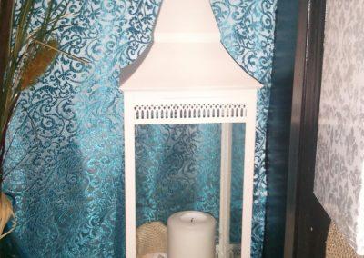 17 inch white lantern
