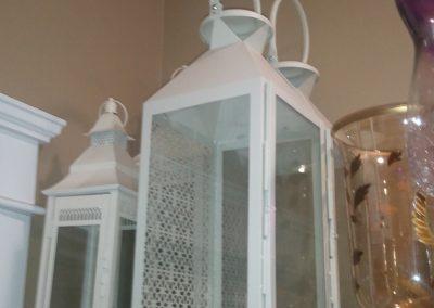 21 inch white lantern