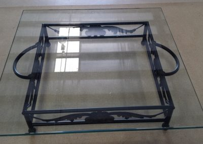 22 inch sq glass top cake plateau